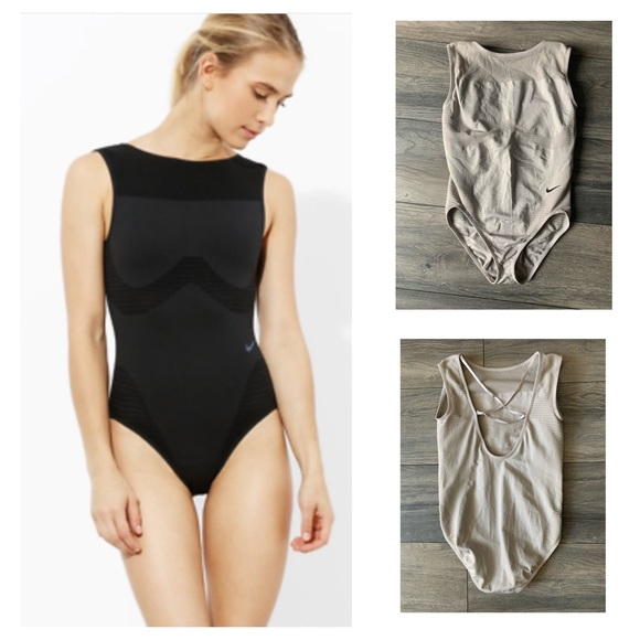Nike Seamless Body Training Suit in Nude